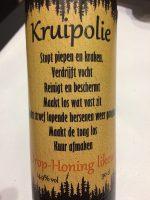 kruipolie Drop-Honing likeur-etiket